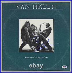 Eddie Van Halen & Alex Van Halen Signed Vinyl Record Lp Album Coa Psa/dna Proof