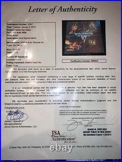 Eddie Van Halen David Lee Roth autographed FIRST album record vinyl JSA LOA COA