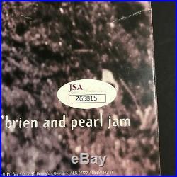 Eddie Vedder Signed Album Pearl Jam VS Vinyl LP Record JSA LOA Autograph Poster