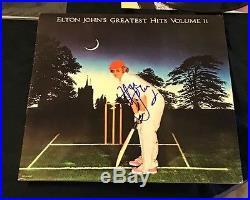 Elton John Autographed Greatest Hits Vol 2 Vinyl LP Album W Photo Proof & COA