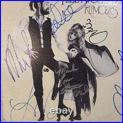 FLEETWOOD MAC Rumors autographed Stevie Nicks all 5 RUMOURS Vinyl LP Album COA