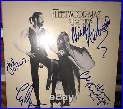 Fleetwood Mac Band Rumors Album Vinyl Signed X4