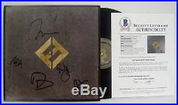 Foo Fighters Band Signed Concrete & Gold Album Vinyl Beckett Letter #a84836