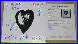 Foo Fighters Band Signed One By One Album X5 Vinyl Lp Jsa Coa Dave Grohl