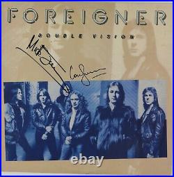 Foreigner JSA Signed Autograph Record Album Vinyl Mick Jones Lou Gramm