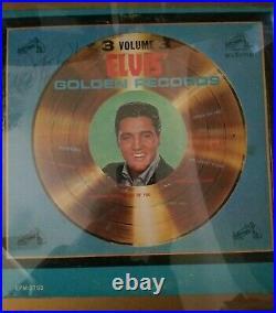 Framed Matted Elvis Presley Vinyl Record Album Autographed No COA