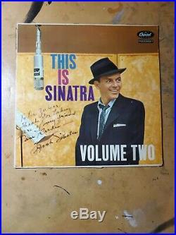 Frank Sinatra Signed Autographed Vinyl Record Album