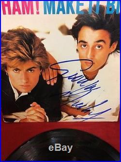 GEORGE MICHAEL Hand Signed Autographed WHAM Make It Big Album LP Vinyl Record