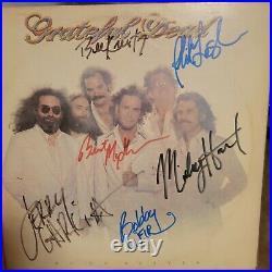GRATEFUL DEAD signed vinyl album GO TO HEAVEN by 6 members