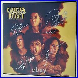 GRETA VAN FLEET Band SIGNED + FRAMED Black Smoke Rising Vinyl Record Album