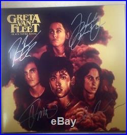 GRETA VAN FLEET Black Smoke Rising Signed Vinyl Record Album 4+ VERY RARE