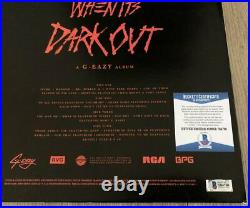 G-EAZY G EAZY SIGNED WHEN IT'S DARK OUT VINYL ALBUM withPROOF & BECKETT BAS COA
