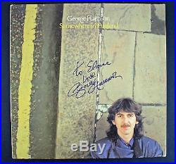 George Harrison Signed'Somewhere In England' Album Cover With Vinyl PSA #AB04537