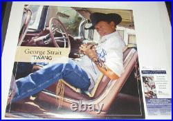 George Strait Hand Signed Autographed Twang LP Vinyl Album JSA COA