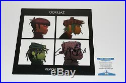 Gorillaz Damon Albarn Signed'demon Days' Album Vinyl Record Lp Blur Coa Bas