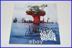 Gorillaz Damon Albarn Signed'plastic Beach' Album Vinyl Record Lp Blur Bas Coa