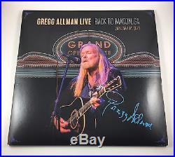 Gregg Allman Signed Autographed Live Back To Macon, GA Vinyl Album COA PROOF