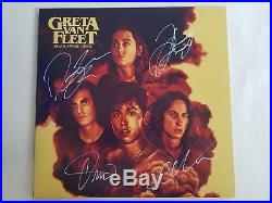 Greta Van Fleet Autographed Black Smoke Rising Vinyl Album, Pic Proof