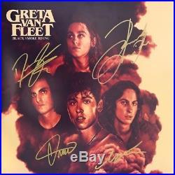 Greta Van Fleet BLACK SMOKE RISING Full Band Signed Autograph VINYL Album