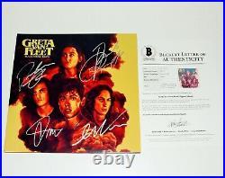 Greta Van Fleet Band Signed Black Smoke Rising Album Vinyl Record Beckett Coa