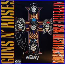 Guns N Roses Signed Album Axl Rose Autographed Vinyl Exact Photo Proof (Slash)