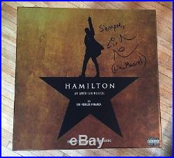 HAMILTON Cast Album VINYL Signed /AUTOGRAPHED By LIN-MANUEL MIRANDA! Broadway