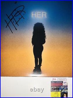 H. E. R Hand Signed Debut Vinyl Album Record With Jsa Coa Lp