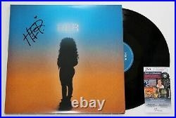H. E. R. SIGNED SELF TITLED DEBUT 2x LP VINYL RECORD ALBUM GABRIELLA AUTOGRAPH JSA