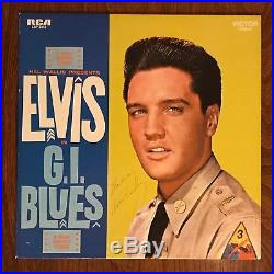 Hand Signed ELVIS PRESLEY Original 1971 GI BLUES Vinyl Album + my COA