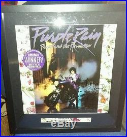 Hand signed autograph prince symbol purple rain album vinyl