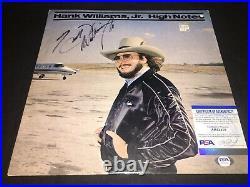 Hank Williams Jr Signed High Notes Vinyl Album Country Superstar PSA/DNA