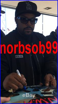 ICE CUBE SIGNED AUTOGRAPH N. W. A. STRAIGHT OUTTA COMPTON VINYL ALBUM wEXACT PROOF