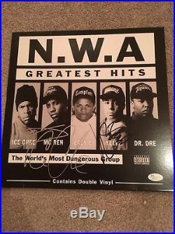 Ice Cube + Dj Yella Signed Album Proof Jsa Coa Autograph Vinyl Record Nwa