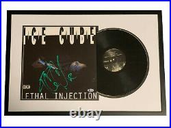 Ice Cube Signed Framed Lethal Injection Album Vinyl Lp Auto Beckett Bas Coa Nwa