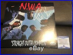 Ice Cube Signed Nwa Vinyl Album Beckett Bas Coa Auto