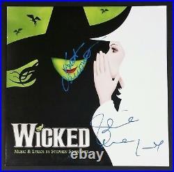 Idina Menzel Kristin Chenoweth Signed Wicked Green Vinyl Record Album Jsa Loa