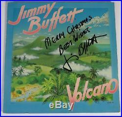 JIMMY BUFFETT Signed Autograph Volcano Album Vinyl Record LP