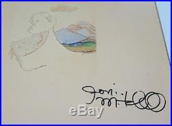 JONI MITCHELL Signed Autograph Court And Spark Album Vinyl Record LP
