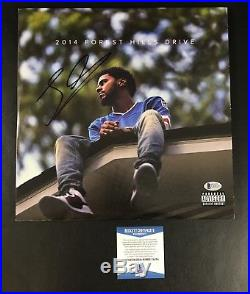 J Cole Signed Fores Hills Drive Vinyl Album Lp Authentic Autograph Beckett Bas