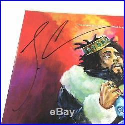 J Cole Signed KOD LP Vinyl PSA/DNA Album Autographed