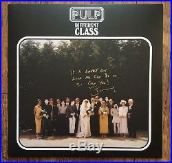Jarvis Cocker Pulp Hand Signed Inscribed Different Class Vinyl Album Rare