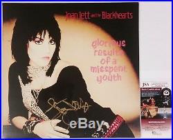 Joan Jett Signed Glorious Results Of Misspent Youth Lp Vinyl Album Jsa Cert