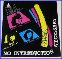 John Paul Jones LED ZEPPELIN Signed Autograph No Introduction. Album Vinyl LP