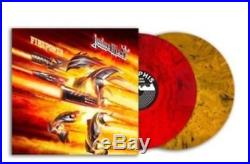 Judas Priest Signed Firepower Lp Vinyl Album Halford Tipton Redblackorange Vinyl