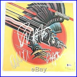 Judas Priest signed Screaming for Vengeance Album LP vinyl BAS Beckett Autograph