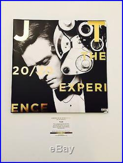Justin Timberlake Signed Vinyl Deluxe The 20/20 Experience Album LSC Witness COA