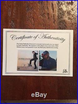 Justin Timberlake Signed Vinyl Record Album Autographed Exact Proof Coa