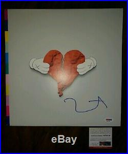 KANYE WEST Signed Autographed 808s & HEARTBREAK ALBUM VINYL LP with COA PSA PROOF
