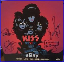 KISS Kruise VI Autographed Red Vinyl Album plus extras