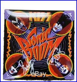 KISS LP vinyl Sonic Boom Blue SIGNED with Original Box Invoice Album
